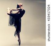 beautiful ballet dancer  modern ...   Shutterstock . vector #433417324