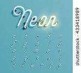 realistic neon character... | Shutterstock .eps vector #433418989