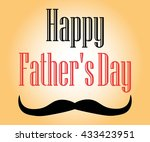 father's day text on an orange... | Shutterstock .eps vector #433423951