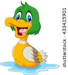 funny baby duck cartoon | Shutterstock .eps vector #433425901