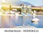 two champagne glasses. ascona ... | Shutterstock . vector #433426111