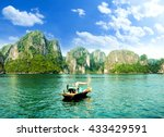 halong bay in vietnam. unesco... | Shutterstock . vector #433429591