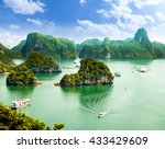 halong bay in vietnam. unesco... | Shutterstock . vector #433429609