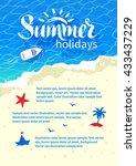 summertime design with summer... | Shutterstock .eps vector #433437229