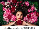 beautiful portrait of a... | Shutterstock . vector #433438309