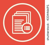 vector illustration of files... | Shutterstock .eps vector #433446691
