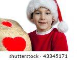 Happy santa boy - stock photo