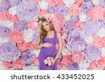 extravagant young beautiful... | Shutterstock . vector #433452025