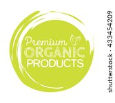 organic product badge  vintage... | Shutterstock .eps vector #433454209