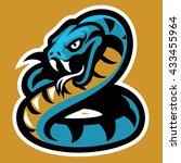 snake mascot   Shutterstock .eps vector #433455964