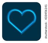 3d line neon web icon  blue...   Shutterstock . vector #433456141
