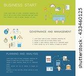 business concept. modern linear ... | Shutterstock .eps vector #433460125