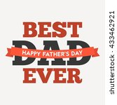 best dad ever type font for...   Shutterstock .eps vector #433462921