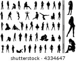 people. silhouettes | Shutterstock .eps vector #4334647