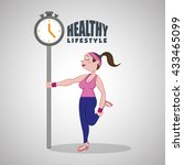 healthy lifestyle design.... | Shutterstock .eps vector #433465099
