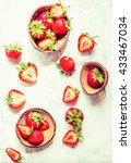 fresh juicy strawberries in... | Shutterstock . vector #433467034
