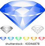 diamond original vector... | Shutterstock .eps vector #43346878