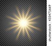 vector sun light lens flare... | Shutterstock .eps vector #433471669