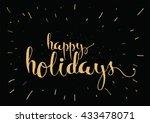 happy holidays inscription.... | Shutterstock .eps vector #433478071