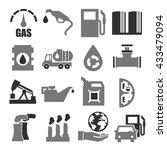 gasoline  gas  oil icon set | Shutterstock .eps vector #433479094
