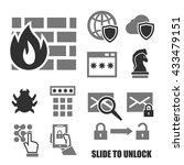 firewall icon set | Shutterstock .eps vector #433479151
