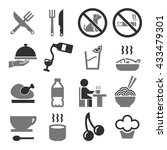 food  eat icon set | Shutterstock .eps vector #433479301