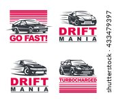 set of four sport cars logo ... | Shutterstock .eps vector #433479397