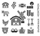 farm icons set | Shutterstock .eps vector #433479424