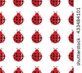 cute ladybug cartoon seamless...   Shutterstock .eps vector #433484101