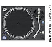 dj turntable mixer equipment... | Shutterstock . vector #433487374
