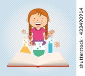 small students  design  | Shutterstock .eps vector #433490914