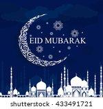 eid mubarak. ramadan  greeting...   Shutterstock .eps vector #433491721