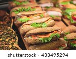 beautifully decorated catering...   Shutterstock . vector #433495294