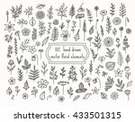 collection of hand drawn floral ...   Shutterstock .eps vector #433501315