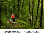 cyclist riding the bike on a... | Shutterstock . vector #433504651