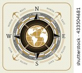 nautical vintage compass 01 on... | Shutterstock .eps vector #433504681