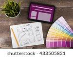 website wireframe sketch and... | Shutterstock . vector #433505821