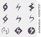thunder icon   Shutterstock .eps vector #433507537