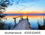 sunset lake | Shutterstock . vector #433510405