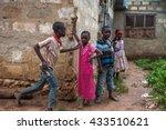 editorial use. children in...   Shutterstock . vector #433510621