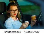 young businesswoman sending a... | Shutterstock . vector #433510939