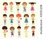 valentine kids   Shutterstock . vector #43351258