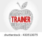trainer apple word cloud ... | Shutterstock . vector #433513075