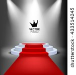 vector king winner podium with... | Shutterstock .eps vector #433514245