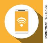 smartphone design. media icon.... | Shutterstock .eps vector #433514851