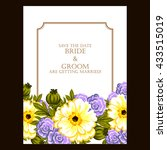 romantic invitation. wedding ... | Shutterstock .eps vector #433515019