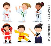 Set Of Martial Arts Kids....