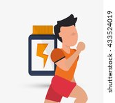 healthy lifestyle design.... | Shutterstock .eps vector #433524019