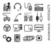 gamer  gaming gear icon set | Shutterstock .eps vector #433526275