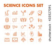 science icon set isolated on... | Shutterstock . vector #433527091